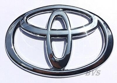 Fit Toyota Logo Badge Silver Chrome Steering Wheel Car Emblem Sticker