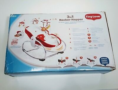 Tiny Love 3‑in‑1 Rocker Napper, Red Infant Baby Bouncer. unused. Retail $100