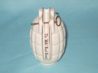 Grafton China WW1 Mills Hand Grenade - WHITLEY BAY crest