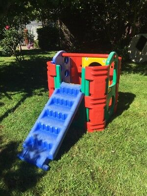 Kids Outdoor Play Gym Cubby House with Slide / Stairs- Good Condition