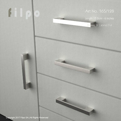 Filpo Kitchen Cabinet Drawer Handles Pull 15.2cm - 6 inch total Length Art.165