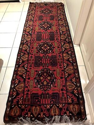 Stunning Persian Afghan Authentic Hand Knitted Rug/Runner