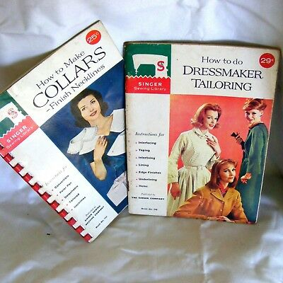 1960s Singer Sewing Library Machine Dressmaker Tailoring Collars ..... 2 manuals