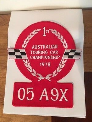 Peter Brock A9X 1978 Patch Australia Touring Car Championship Winner Torana
