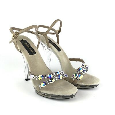 JONATHAN KAYNE Women's Austria Platform Sandals In Taupe Size 7 US