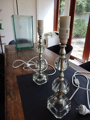 Vintage Retro French Pair of Lamps