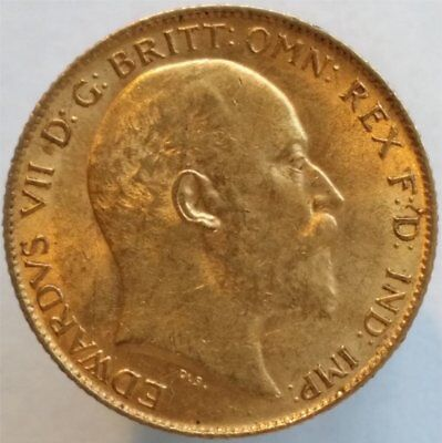 1910 Gold Half Sovereign Great Britain, Uncirculated