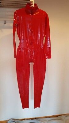 Latexa Catsuit Latexanzug Latex Rubber Gummi Gr.M Rot
