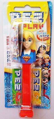PEZ Candy Dispenser - DC Comics Super Hero Girl SUPERGIRL - 17g Candy BNIP