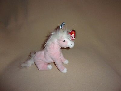 Ty Mwmt Charmer The Pink Unicorn Beanie Baby- Soft And Pretty- Christmas Gift!