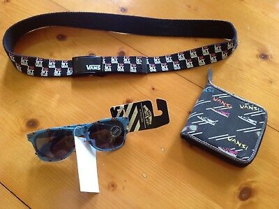 Vans off the wall  belt, sunglasses and wallet