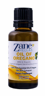 ZANE HELLAS Wild Pure Greek Essential Oil of Oregano Oil.1 fl.oz-30ml. Super 100