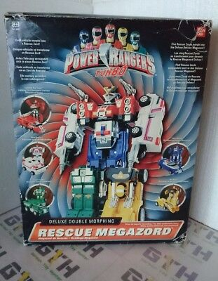 Power Rangers Turbo Double Morphin Rescue Megazord boxed 100% complete