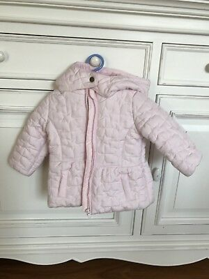 Baby Girl's Pink Quilted Jacket - Size 00