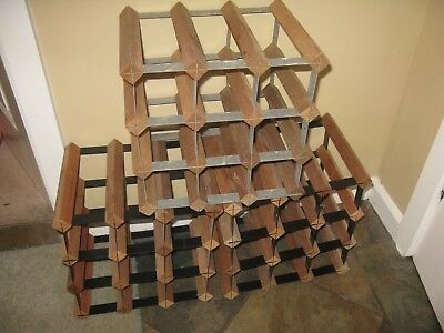 3 X 9-12  BOTTLE WINE RACKS MAKING A TOTAL OF 27 or 36 BOTTLE PLACES