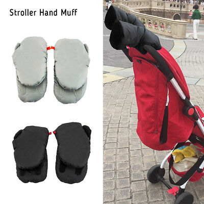 Soft Waterproof Stroller Gloves Mittens Winter Baby Pushchair Hand Warmer Muff
