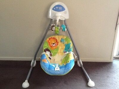 Fisher Price Animals of the World Cradle 'N Swing