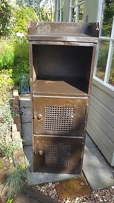 original industrial engineers metal cupboard