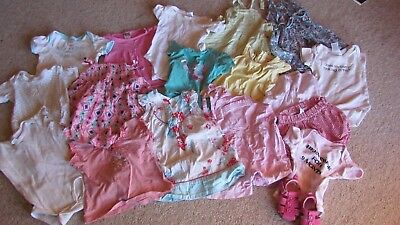 Bulk baby girls size 0 summer clothes shoes included