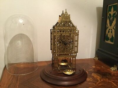 Thwaites and Reed vintage Big Ben skeleton clock, with paperwork