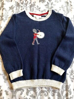 Beautiful Little Drummer Jumper From The Little White Company 18-24 Months