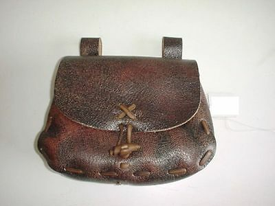 Leather Renaissance Medieval SCA LARP CELTIC belt Pouch Bag aged~brown.11