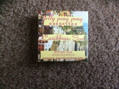 Brand New & Boxed Jelly Pong Pong Caribbean Sun Bronzer Duo In Aruba