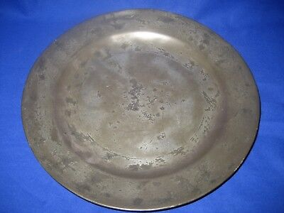Antique London Pewter Plate Marked