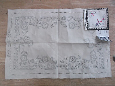 Unworked Vintage Semco Linen Doily To Embroider. Cross Stitch & Crewel Work