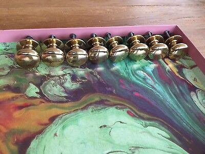 8 Solid Brass Door Knobs