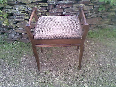 edwardian oak music stool(ideal shabby chic project)