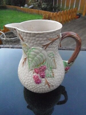 "VINTAGE WADE EMBOSSED & HAND PAINTED JUG - "" BRAMBLE "" - 1950's"