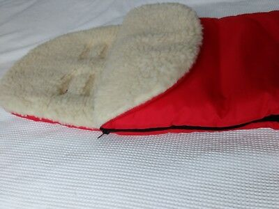 New Red warm cosy toes footmuff universal