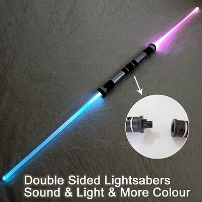 2 Pcs Lightsaber With Sound Cosplay Props Double Light Saber Star Wars Toy Sword