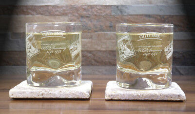 Cutty Sark Chris Columbus 500th Anniversary Scots Dimpled Whisky Glass Set of 2