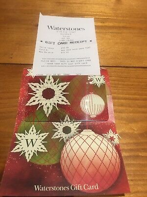 Waterstones Gift Card £10 Christmas Xmas Present