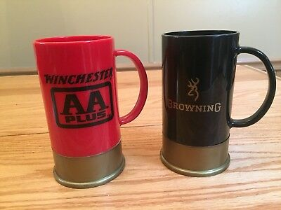 Vintage Winchester Aa Plus & Browning Mugs