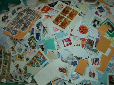Postage Stamps 1 LB BULK US Worldwide Cancelled, Collectible, Philatelist Craft