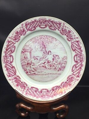 Rare Antique Chinese Export Families Rose Plate 18th Century