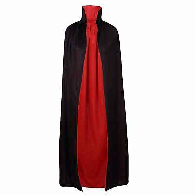 Black and Red Reversible Cape Cloak Robe Halloween Vampire Witch Costume Props