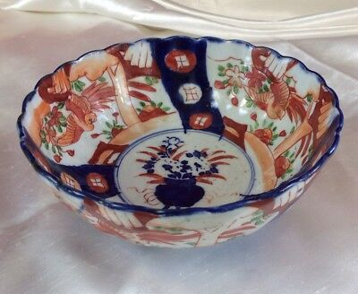 Old Antique Japanese Imari Bowl,18.2Cm Acros,nice Shape,late 19Th/early 20Th Cen