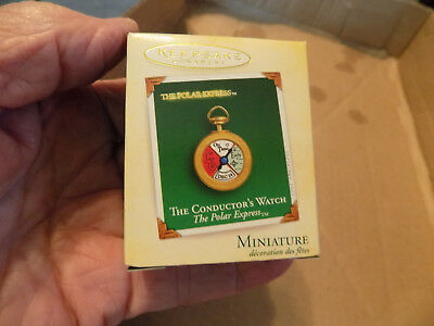 Hallmark Ornaments Mini The Polar Express The Conductor's Watch Qxm6472 2005