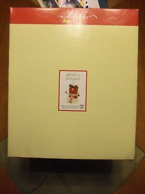 Dept 56 Christmas Krinkles The Gift Of Giving Shelf Sitter New In Box
