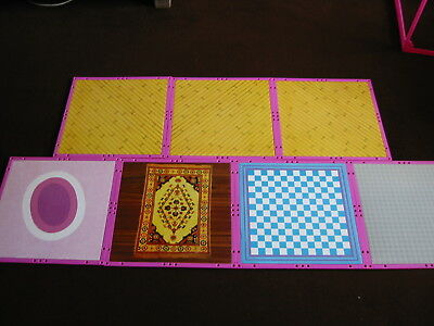 Forever Girl Pink Dolls House Spare Parts Flooring X 7 Rare Sindy Barbie Vintage