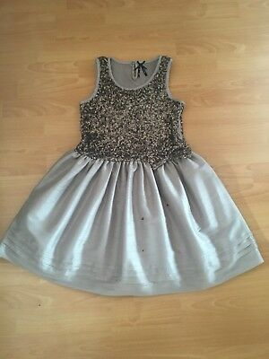 Stunning Next Mink Sequin Xmas Party Dress Age 11 Good Con