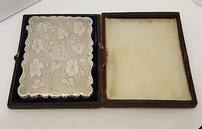Superb Solid Silver Card Case Birmingham 1849