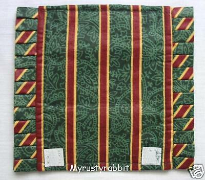 Longaberger Imperial Stripe Fabric Handle Gripper - Christmas Holiday
