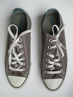 Converse Canvas  Grey Sneakers  Womens Size 9