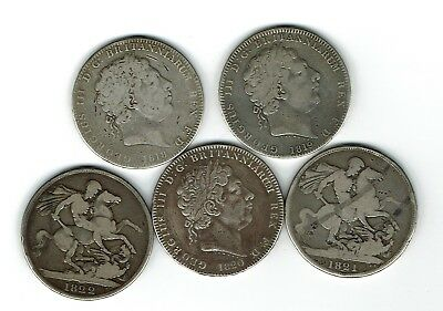 1818 to 1821 Silver Crowns (5)