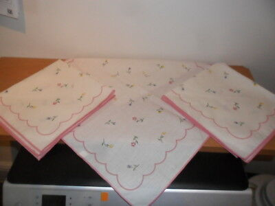 "BRAND NEW  3 x 17"" SUMMER CHINTZ napkins for those extra Christmas guests."